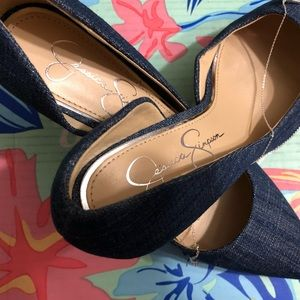 Jessica Simpson Blue Jean Look Pumps